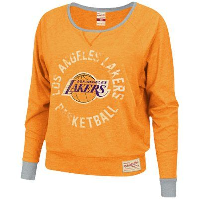 acda84f1b  Fanatics Mitchell   Ness Los Angeles Lakers Ladies Spectacular Long Sleeve  T-Shirt – Gold