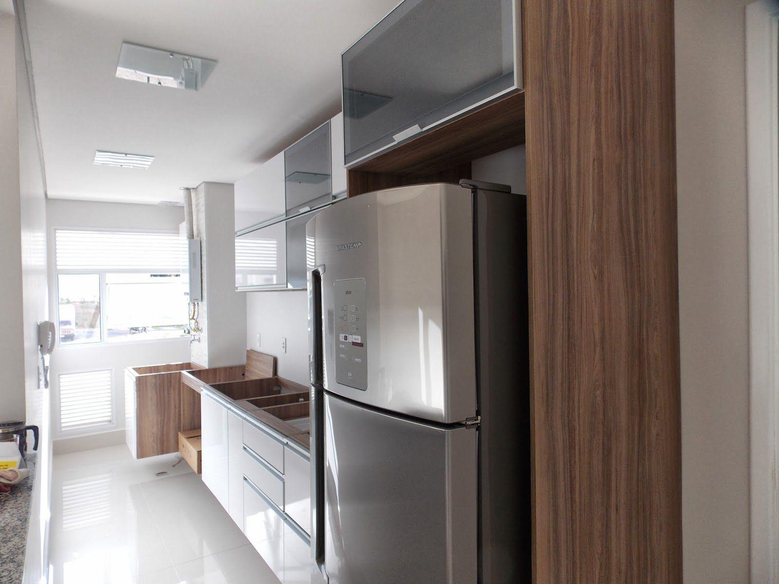 Loucos do 14!! Armários da cozinha instalados e geladeira nova  Decoração  # Armario De Cozinha Em Cima Da Geladeira