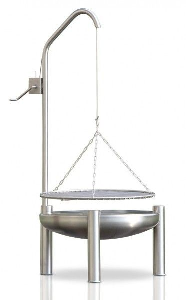 Holzkohle galgengrill edelstahl ideen mit metall for Edelstahl holzkohlegrill