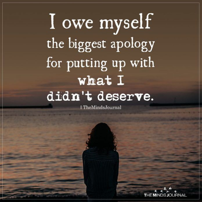 I Owe Myself the biggest apology – Mind Journal
