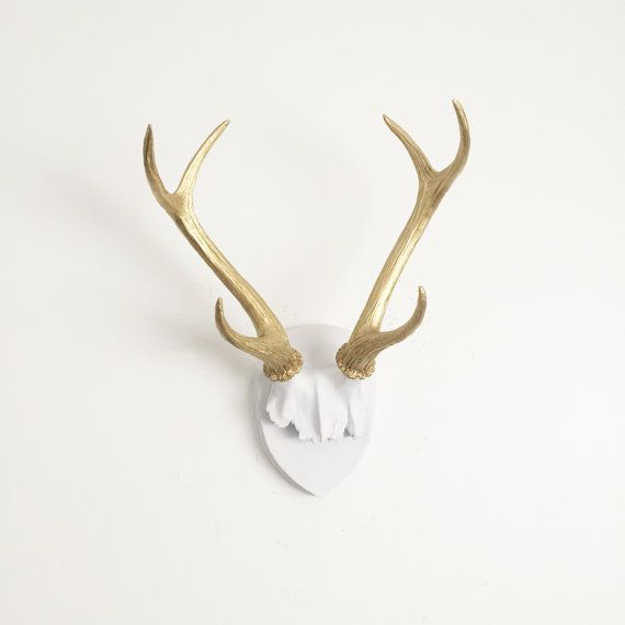 luxury ideas fake deer. ANY COLOR Faux Deer Antler Mount  Hunting Trophy Plaque