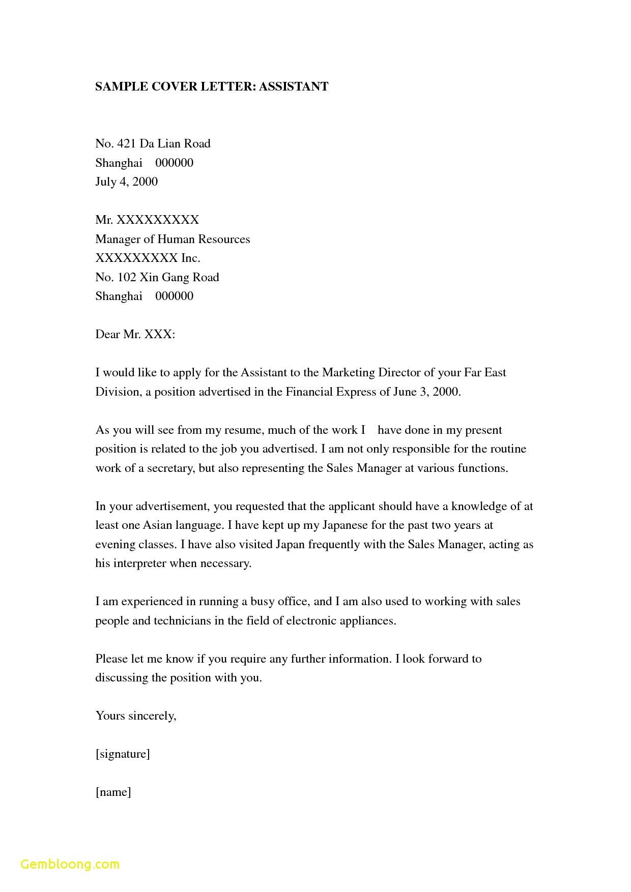 23 Teaching Assistant Cover Letter In