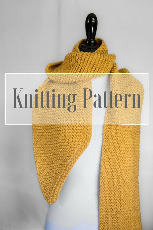 Louise Scarf Pattern Beginner Knitting Pattern Open Ended Scarf