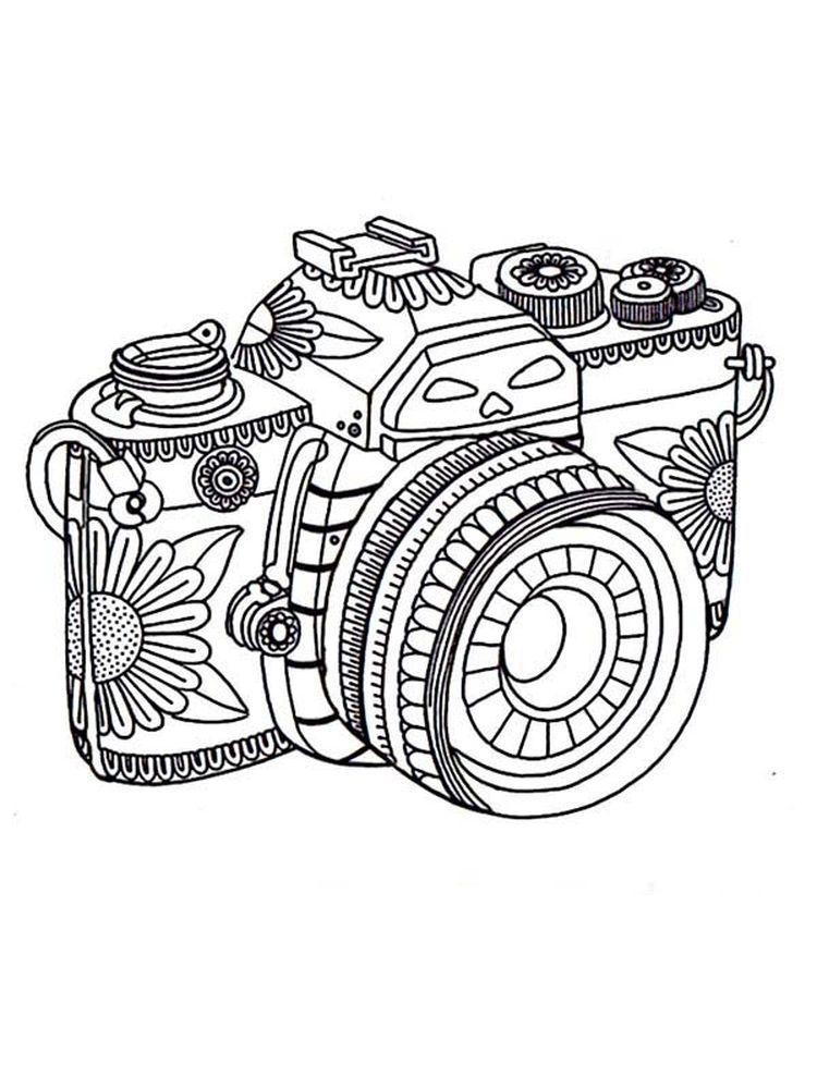 Camera Coloring Pages Printable di 2020 (Dengan gambar)
