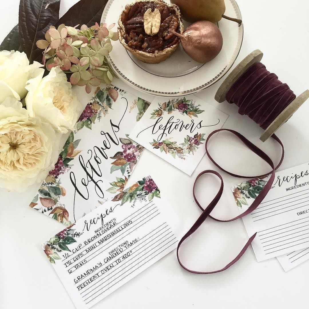 So many holiday goods heading out to your homes! Our new fall watercolor design was inspired by my love for fall colors & various decor pieces in my home so I especially love this collection & am excited you love it too! There's still time to shop for your Thanksgiving/Friendsgiving celebrations via the shop link in profile  by lhcalligraphy