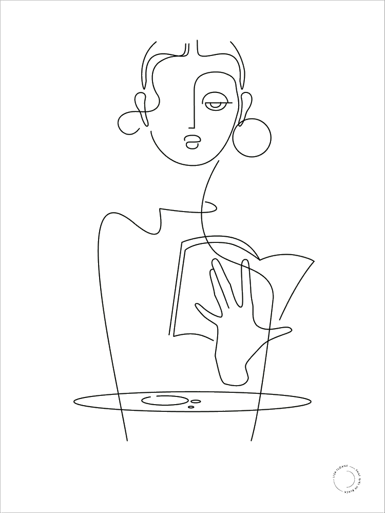 Pin By Kaidyn Predium On Art In 2020 Line Art Drawings Outline Art Abstract Face Art