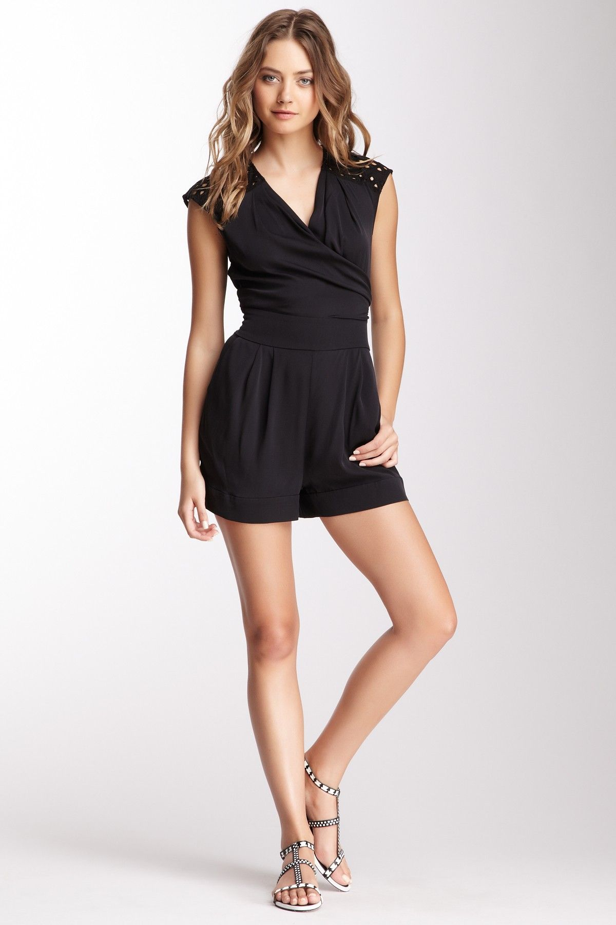 Embroidered Silk Blend Romper on HauteLook
