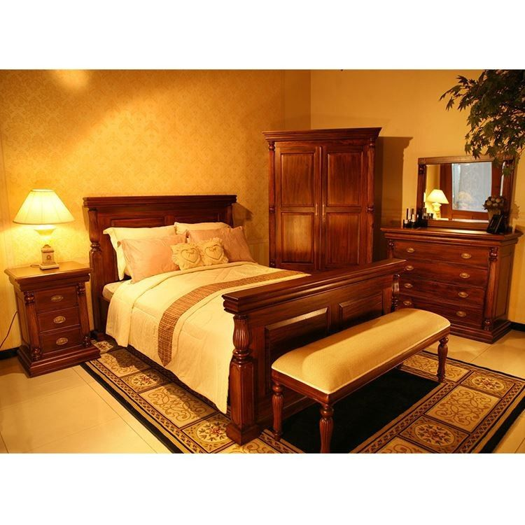 Antique Style Bedroom Furniture Mahogany Wood Empire Style ...