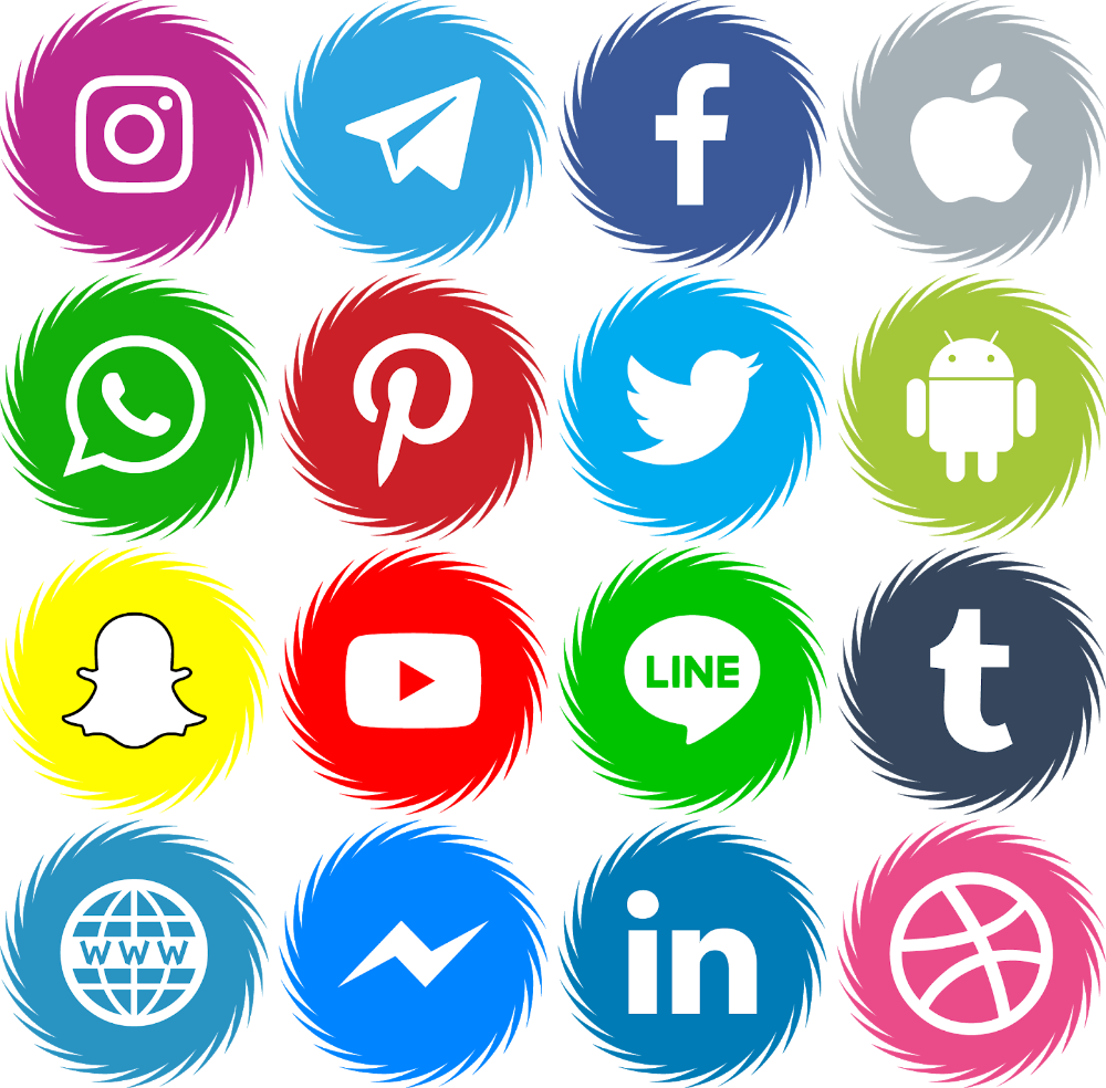 Icons Social Media Vector Color Svg Eps in 2020