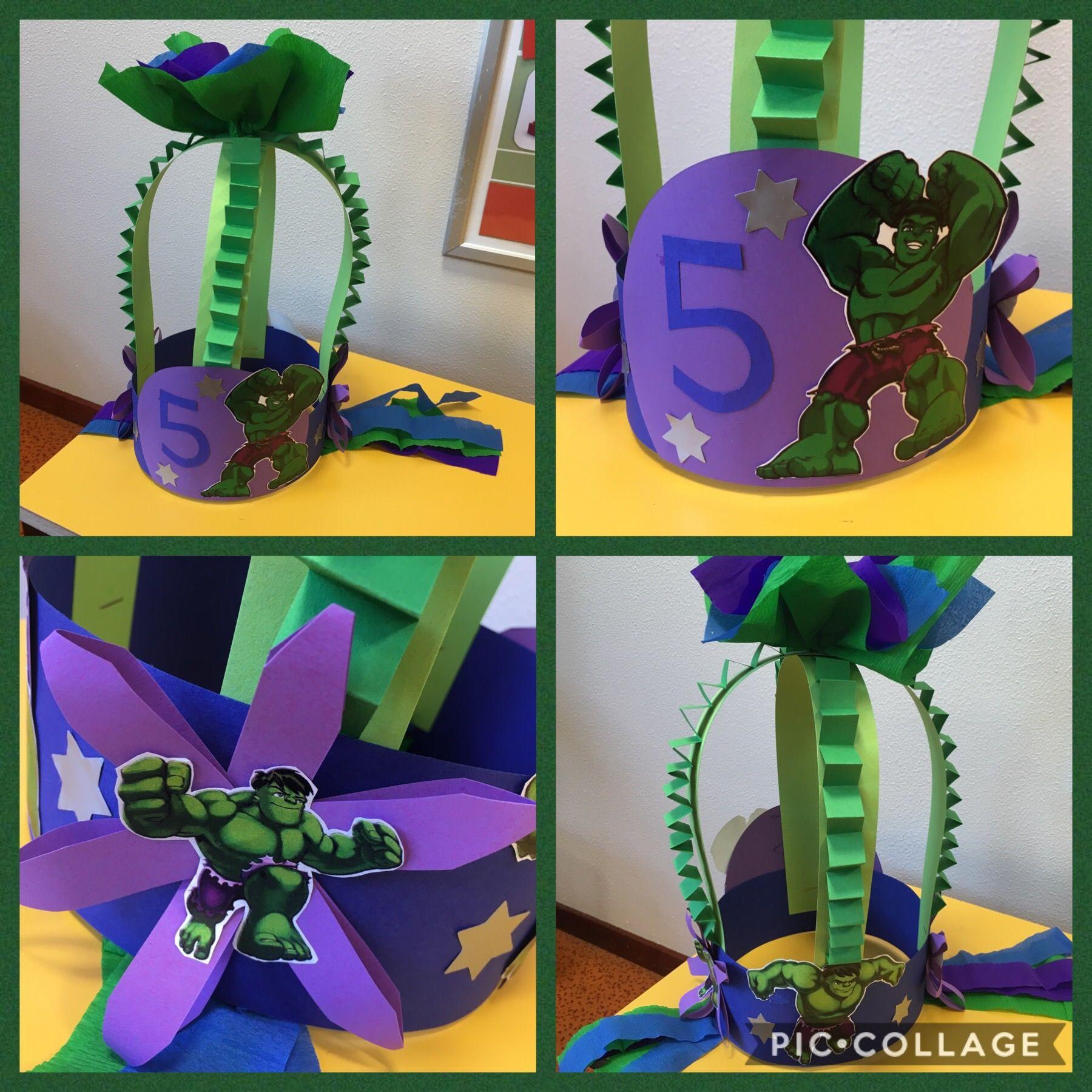 Hulk Verjaardagsmuts Verjaardagskroon