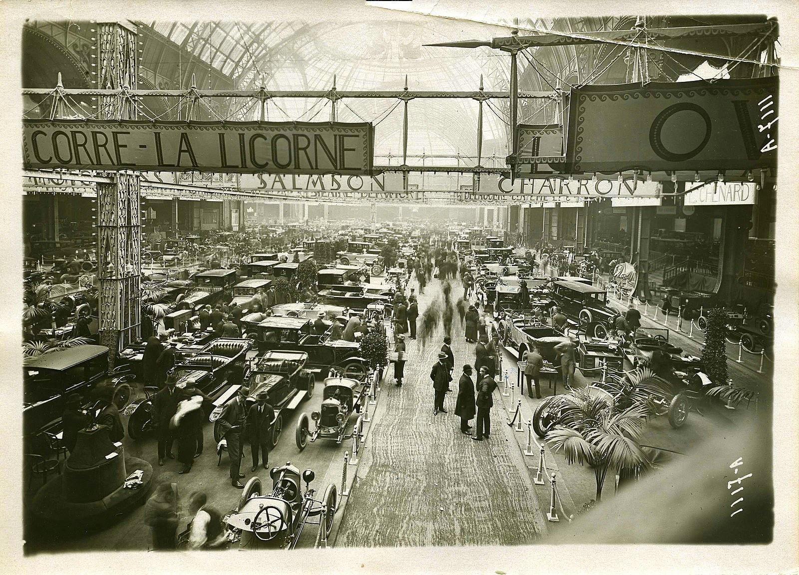salon de l 39 automobile de paris le grand palais photo d 39 henri meurisse 1923 auto show. Black Bedroom Furniture Sets. Home Design Ideas