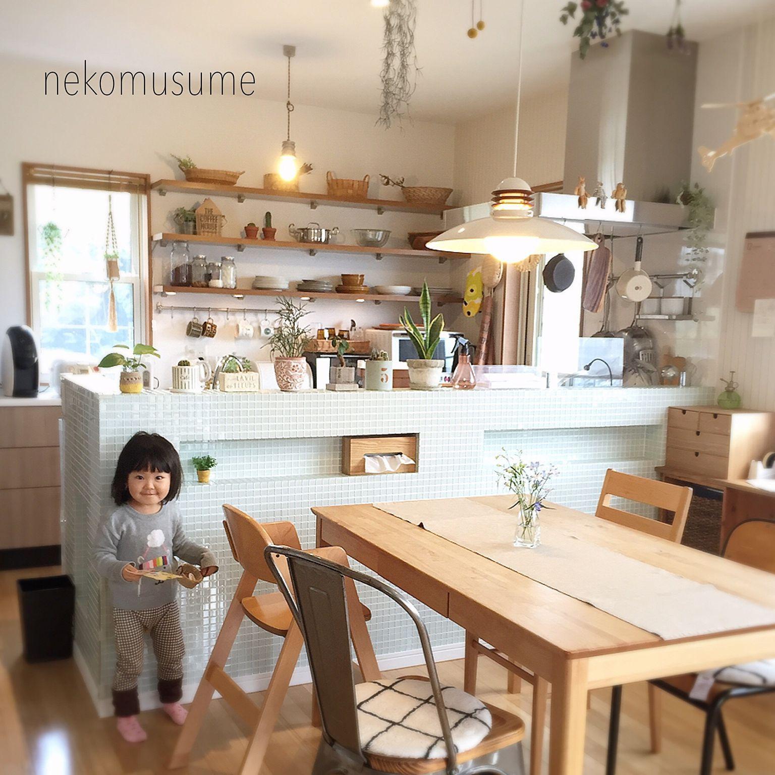 Photo of キッチン/スチールチェア/ダイニングテーブル/キッチン棚/キッチン収納…などのインテリア実例 – 2016-12-06 14:07:39 | RoomClip(ルームクリップ)