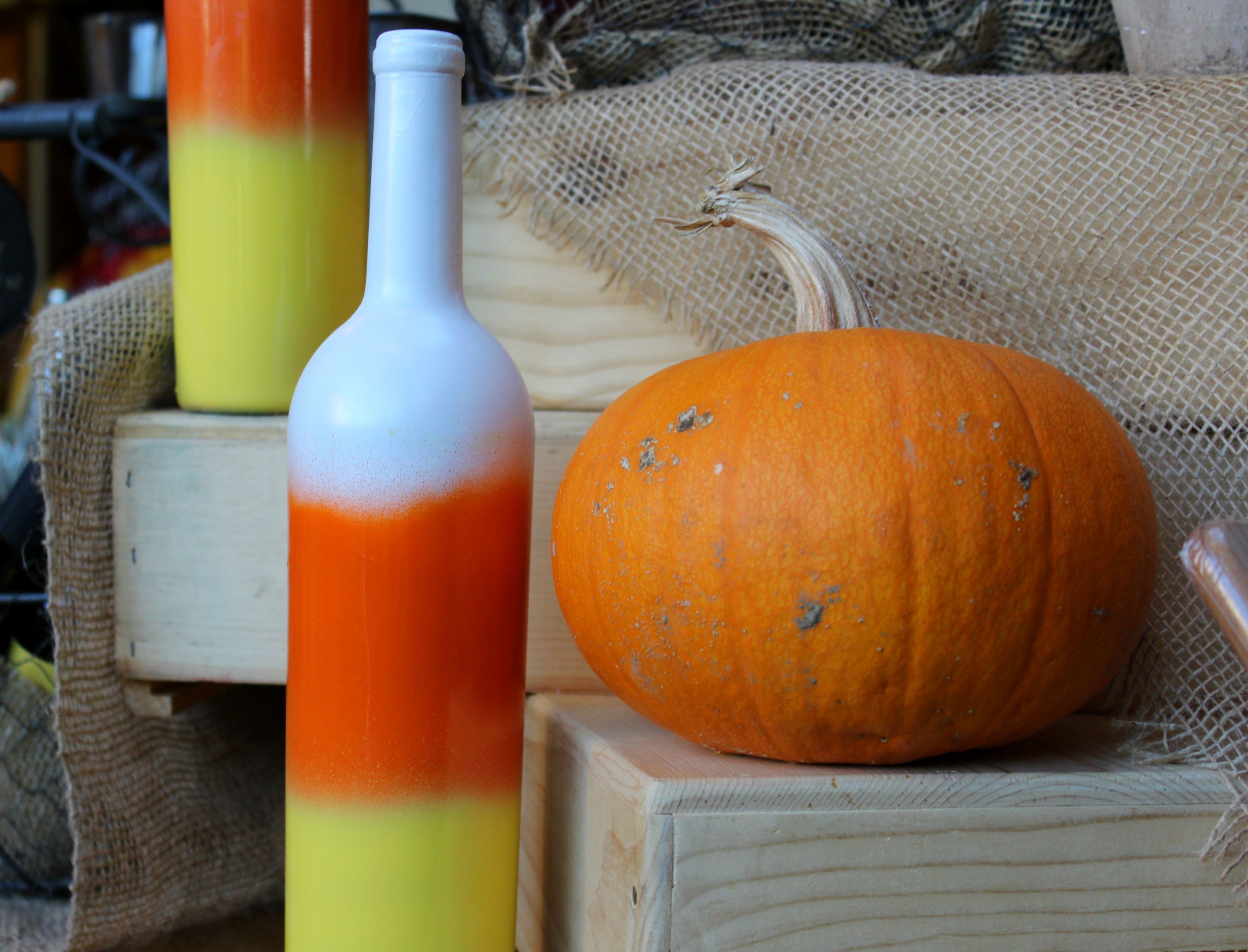 Candy Yellow Spray Paint Part - 43: These Candy Corn Wine Bottles Are Super Cute And Easy To Make! Just Remove  The · White Spray PaintCute ...
