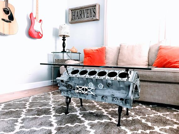Custom Engine Coffee Table Engine Table Gearhead Bachelor