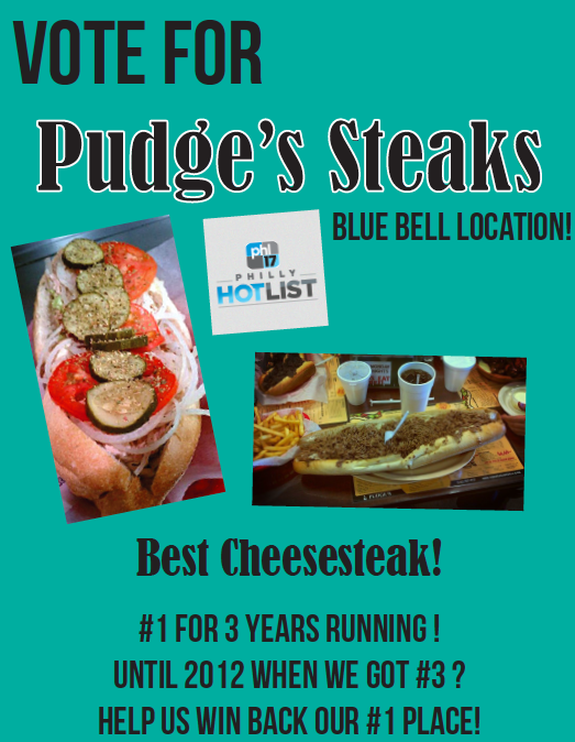 Vote for us for Philly Hotlist! We want to be #1 again!
