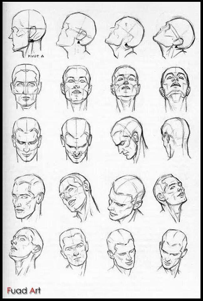 Headface Positions Sketches Design Reference Ider Til Tegning