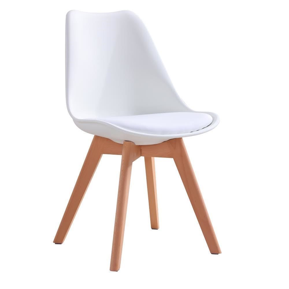 Inspired Dining Chair Natural Solid Wood Legs With Cushioned Pad  Contemporary