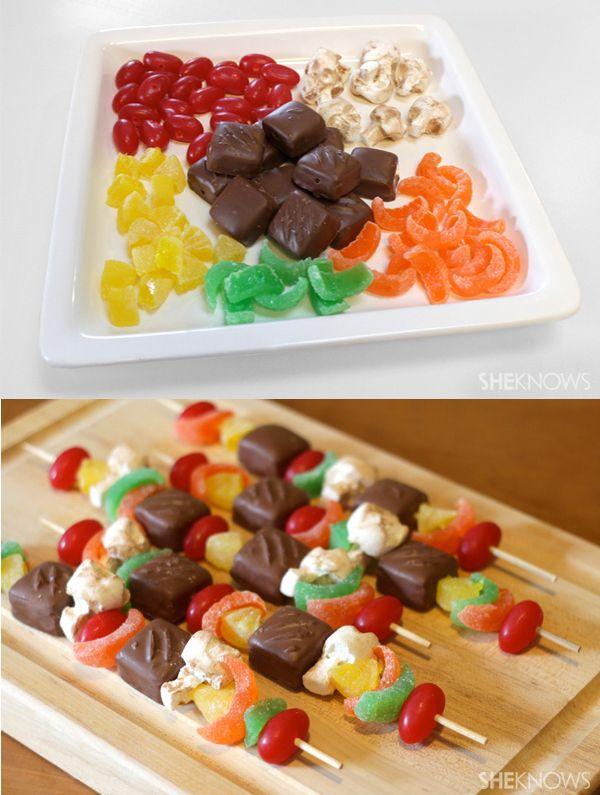 7 brochetas de chuches originales dulces candy party - Golosinas para cumpleanos de ninos ...