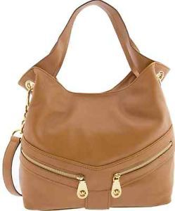 d7c0b7e0e243 NWT Authentic Michael Kors Tan Jamesport Shoulder Sachel Handbag Dust Bag  $368