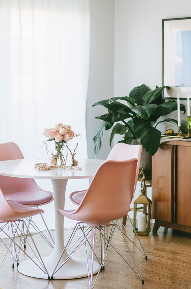 Inside Look With Natalie Spencer Pink Dining Rooms Home Decor Home