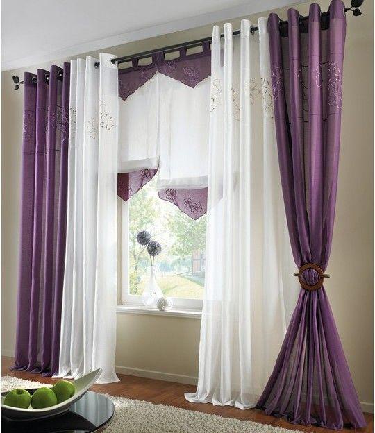 vorhang lila. Black Bedroom Furniture Sets. Home Design Ideas