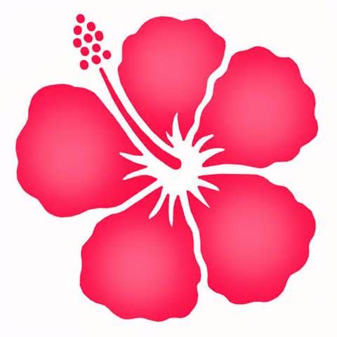 Simple Hibiscus Stencil Shaded From The Stencil Studio Flower Stencil Hibiscus Flower Drawing Flower Printable