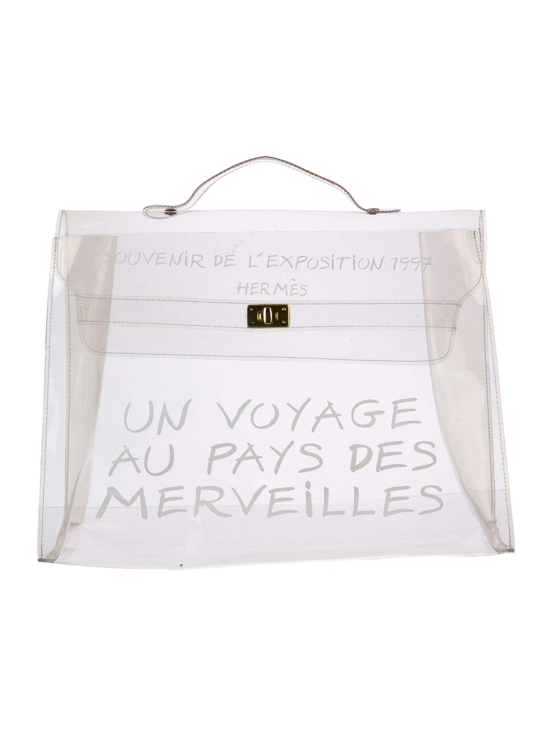 e80f187094f A Clear Must-Have: Transparent Vinyl #Hermès Kelly Bag | Bags + ...