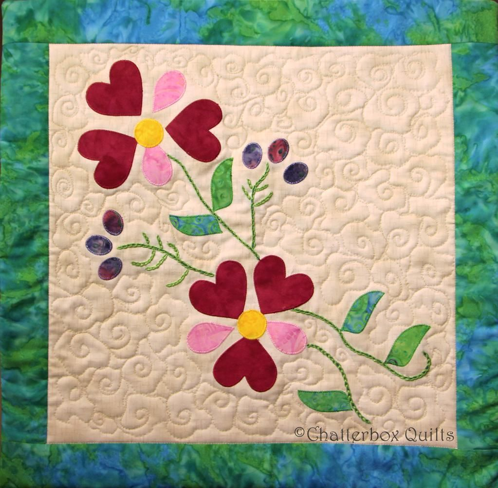 Simple fusible web applique and easy hand embroidery stitches ... : easy applique quilts - Adamdwight.com