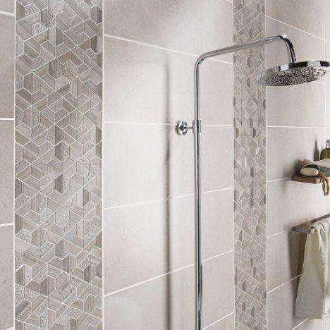 mosa que sol et mur graphik marbre hexa beige carrelage salle de bain leroymerlin salle de