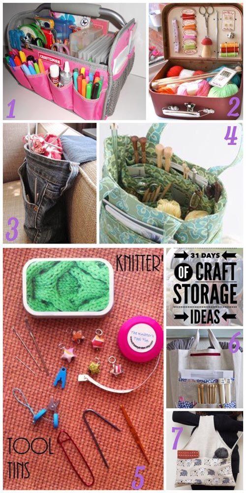 Wip Work In Progress Craft Storage Ideas Crochet Craft