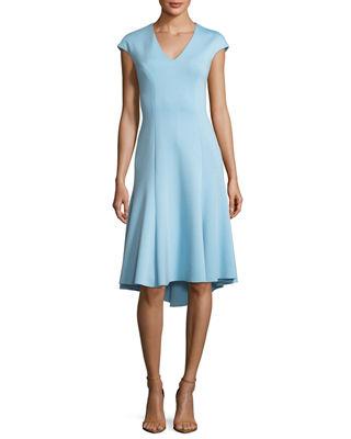 dd99a2c5a0d3 Elie Tahari Moriah V-Neck A-Line Dress | Products | Dresses, Elie ...