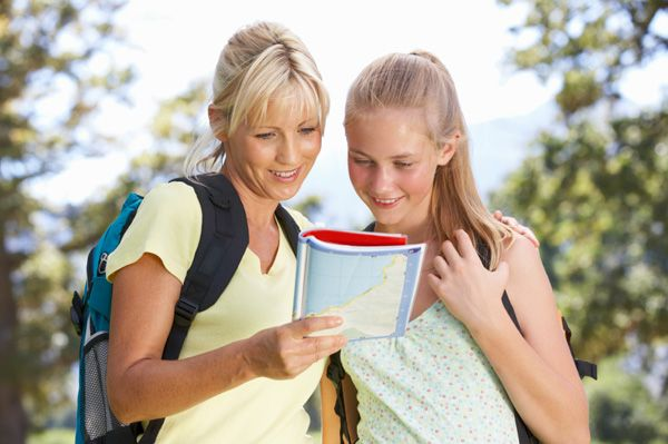 Found mother and teen daughter summer activities