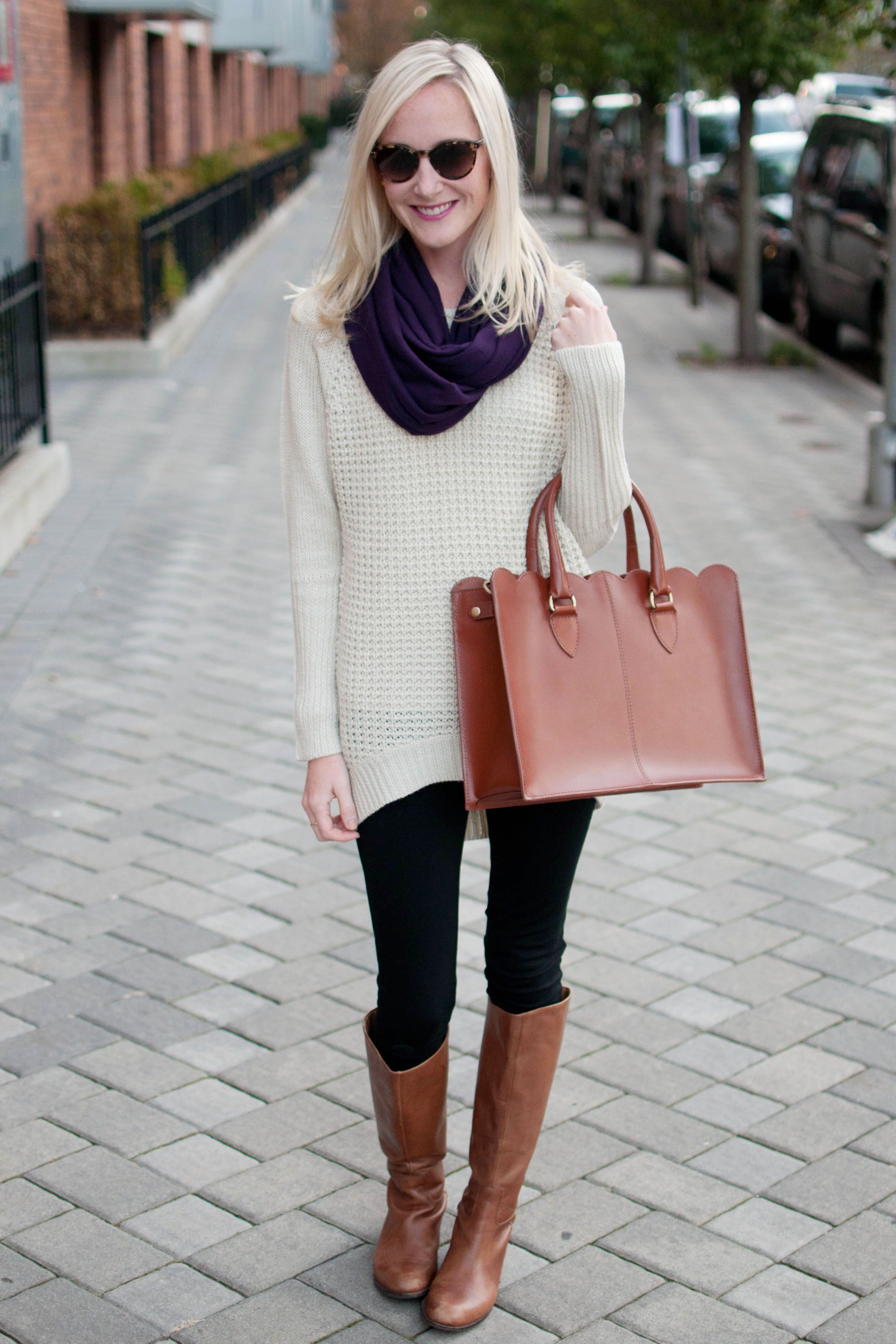 Unusual Winter Leggings with Sweater  Winter Leggings With