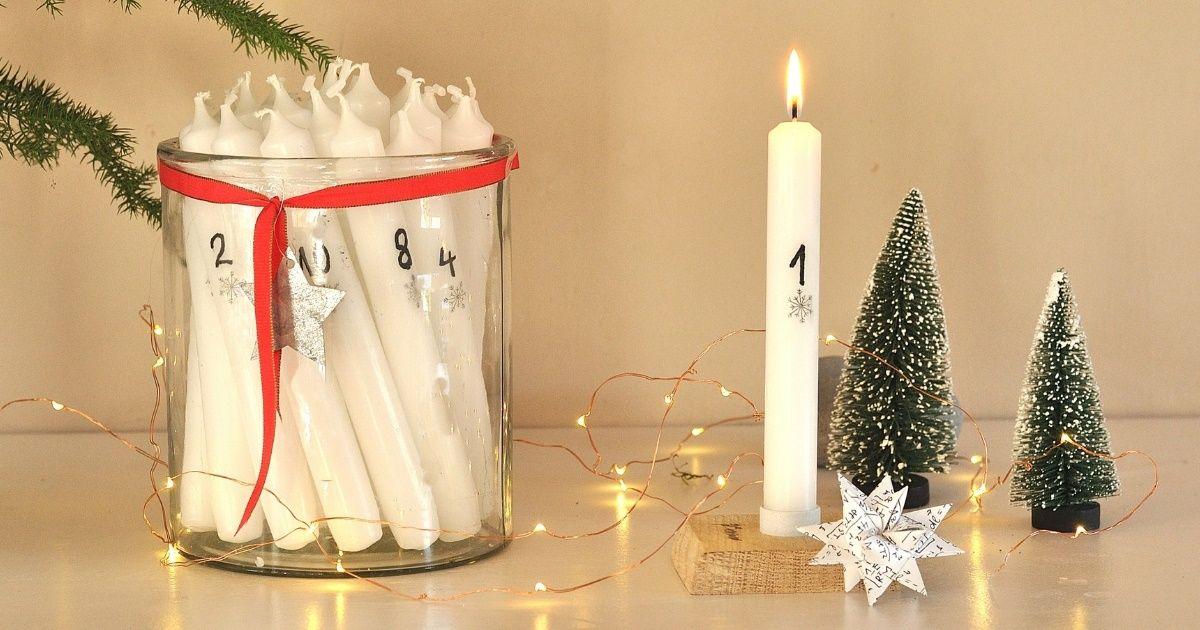 Adventskerzen Mit Zahlen Diy Adventskerzen Advent Kerzen Und Kerzen
