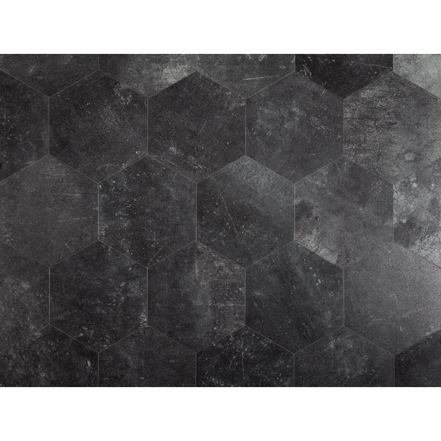 Stainmaster 1 Piece 7 3 4 In X 9 In Groutable Obsidian Peel And Stick Vinyl Tile At Lowes Com Black Vinyl Flooring Vinyl Tile Peel And Stick Vinyl