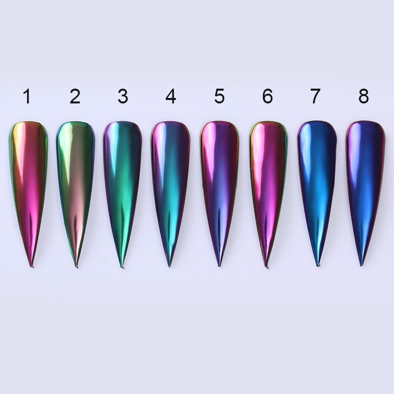 1Box Chameleonic Mirror Nail Glittering Powder