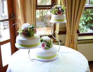 3 Tier Swan Chrome Wedding Cake Stand Hire