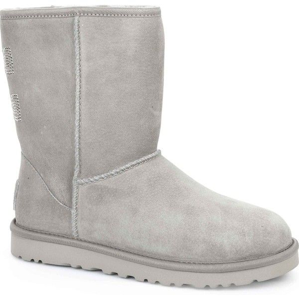 e85ef931cac UGG Australia Women's Classic Short Crystal Bow Oyster Boots ($220 ...