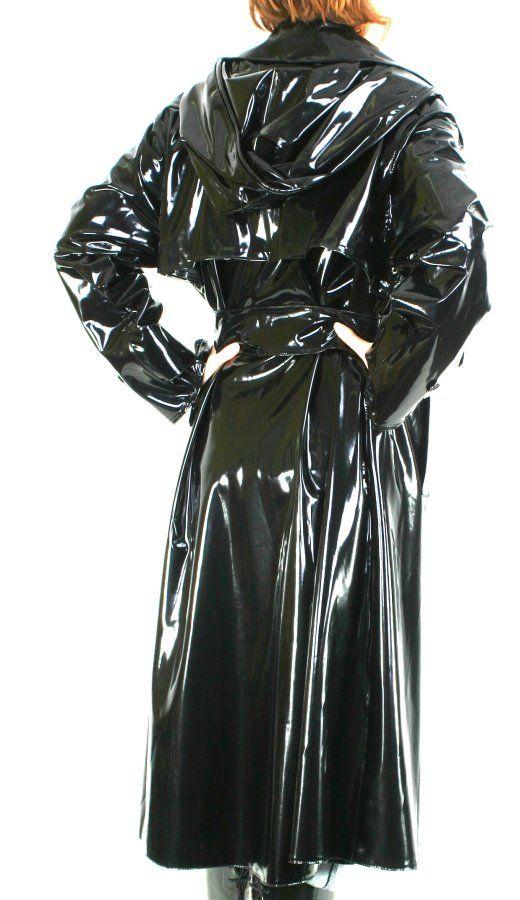 Shiny Black Pvc Mac Imperm 233 Able Noir Vetement Pluie