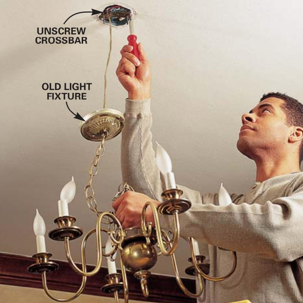 How To Hang A Ceiling Light Fixture Installing Light Fixture Ceiling Lights Light Fixtures