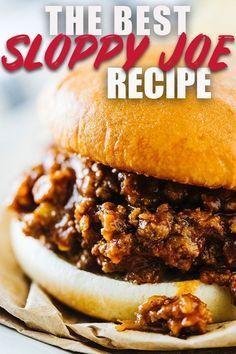 Homemade Sloppy Joe #homemadesloppyjoes