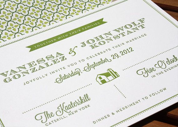 Vanessa \ John Letterpress Wedding Invitations by Bowarrowpaperco - fresh invitation wording debut