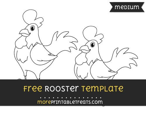 Free Rooster Template - Medium | Farm Theme Printables - Free ...