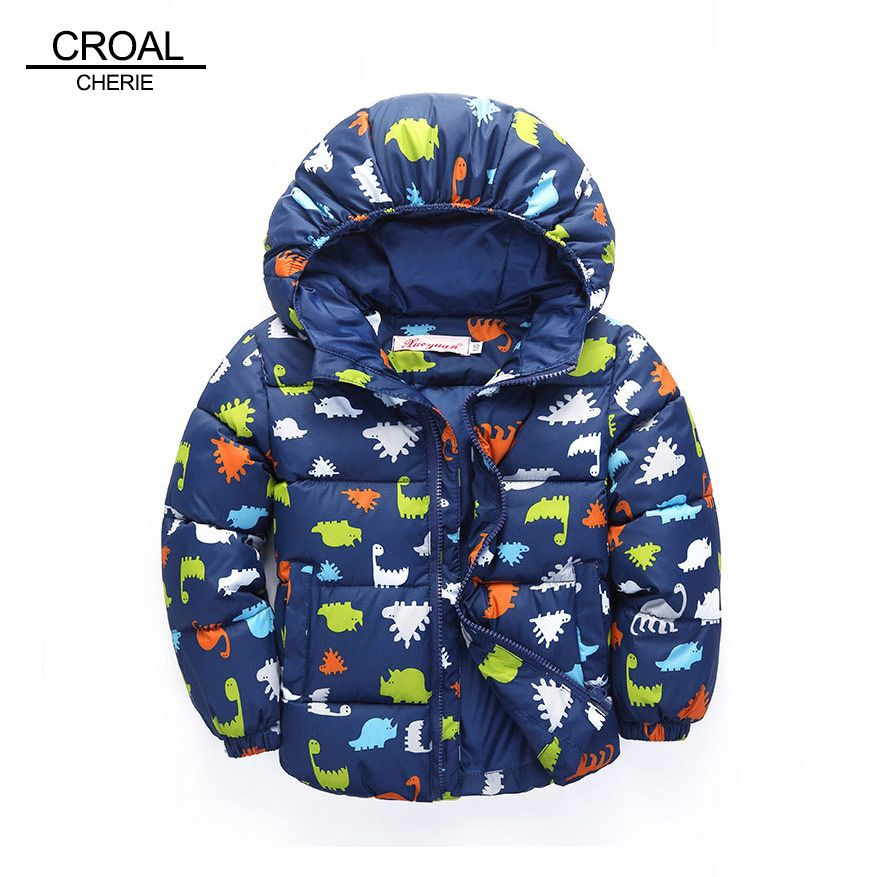 ACE SHOCK Cotton Padded Coat Child Hooded Boy Winter Jacket Cute Parka Girl 11 Colors 12 Months-6 Years