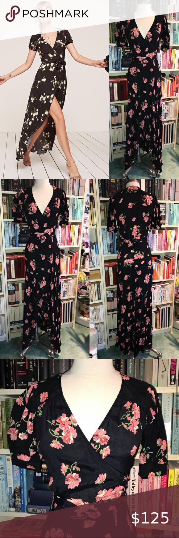 Reformation Black Pink Floral Wrap Maxi Long Dress Reformation Black Floral Wrap Maxi Long Dress Small Gorgeous Long Maxi Dress Long Dress Colorful Dresses [ 1740 x 580 Pixel ]
