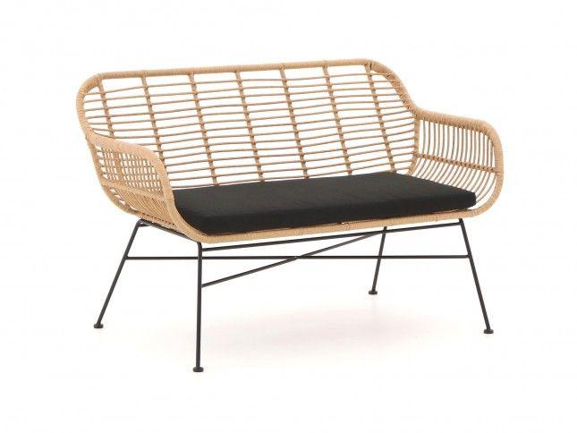 loveseat sofa aus polyrattan f r drinnen und drau en. Black Bedroom Furniture Sets. Home Design Ideas