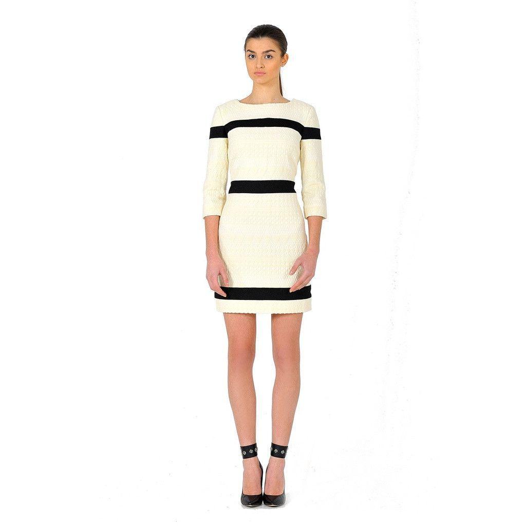 Short dress made of french jacquard shopping uxui designer and