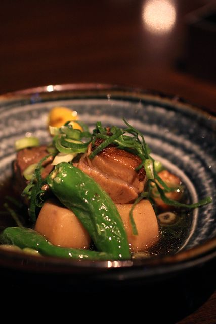 茶美豚角煮, stew of cubed pork, IYEMON SALON KYOTO