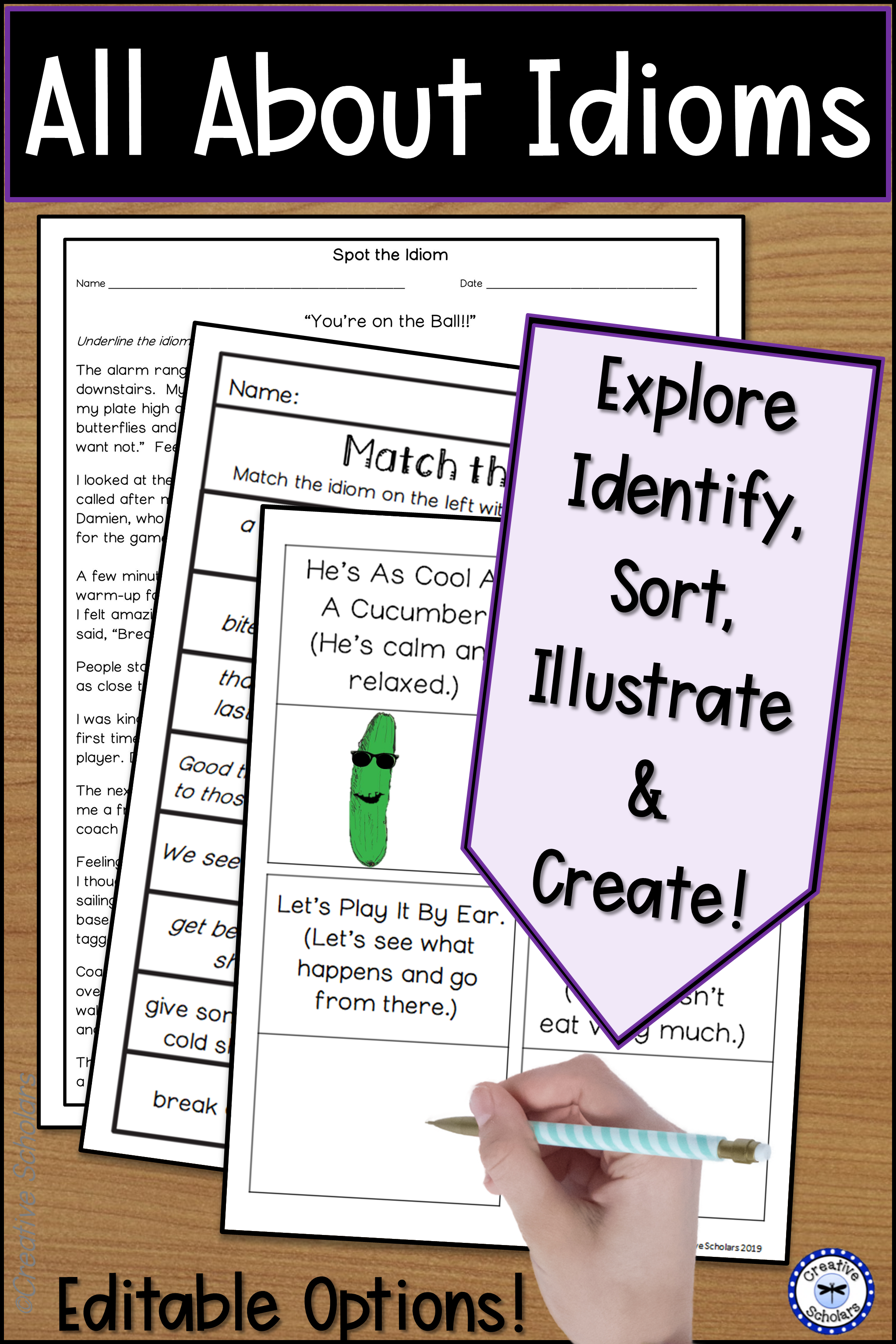 Idiom Worksheets And Activities In