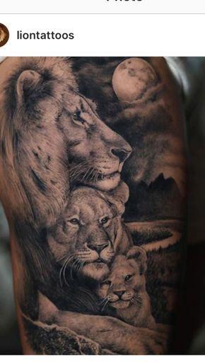 Tatuajes De Familia De Leones
